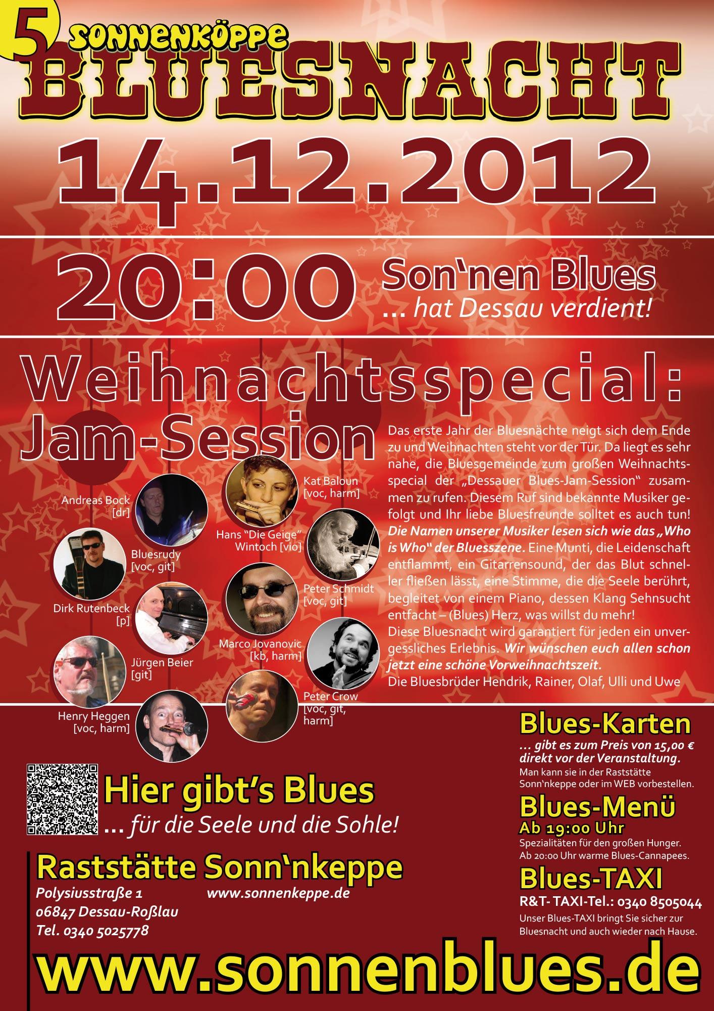Bluesnacht #6 - Die große Weihnachts-Jamsession 2012